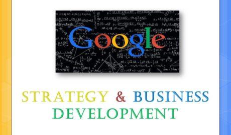 Google Strategy & Business development