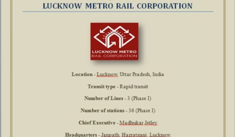 Project on Lucknow Metro Rail Corporation