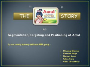 Amul Project Slide 1