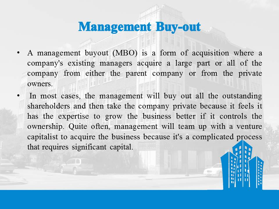 Management Buy-out