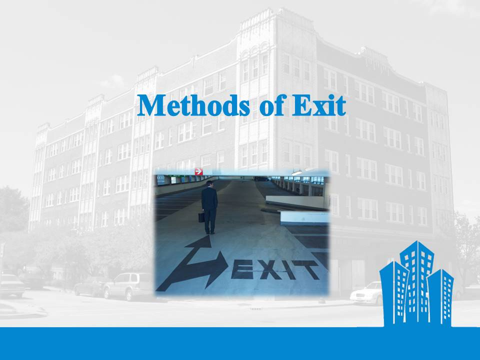 Venture Capital methods of Exit
