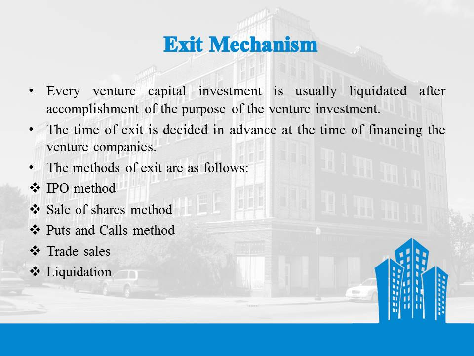 Venture Capital Exit Mechanism