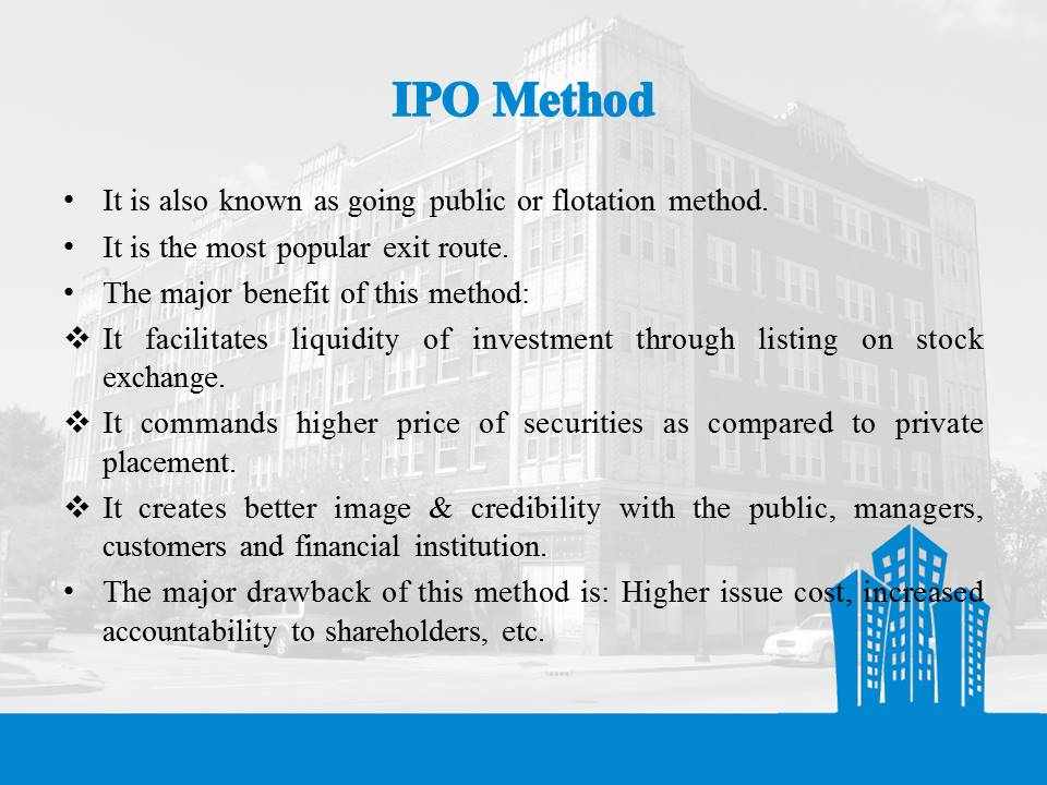 IPO Method