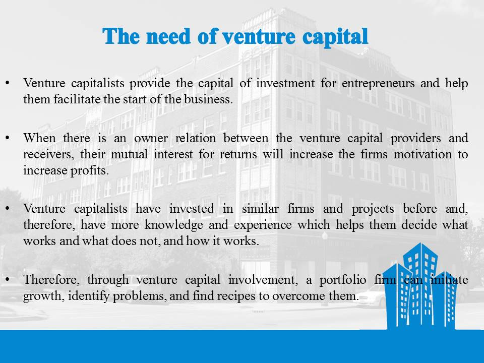 Need for Venture Capital
