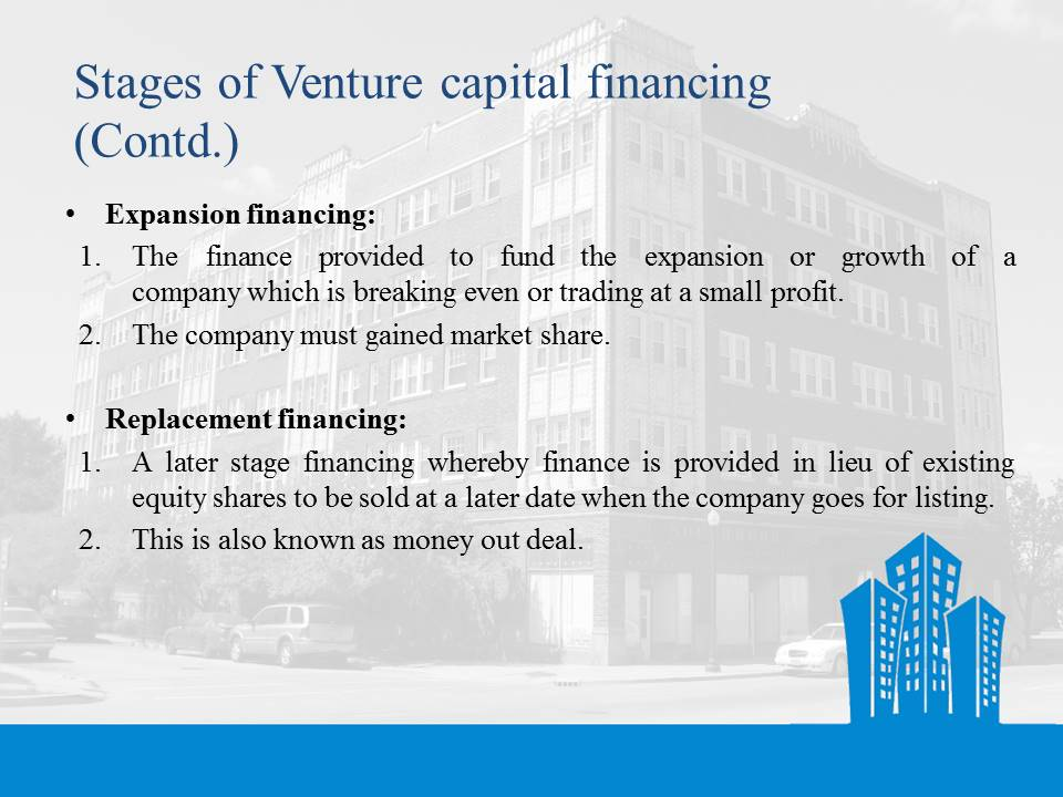 Stages of Venture Capital Financing