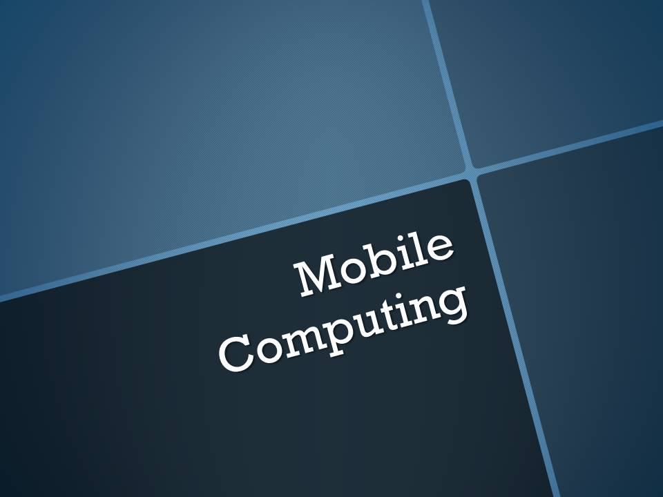 Mobile Computing Project