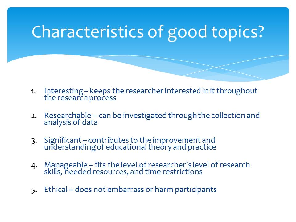 qualities of a good research pdf