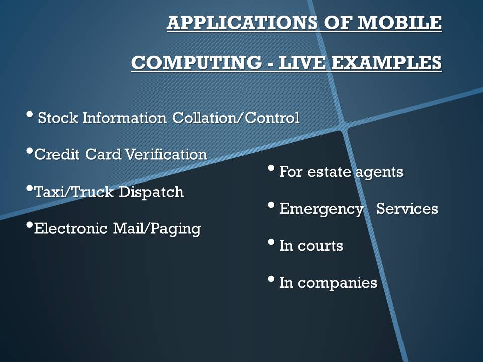 Mobile Computing Presentation Bba Mantra