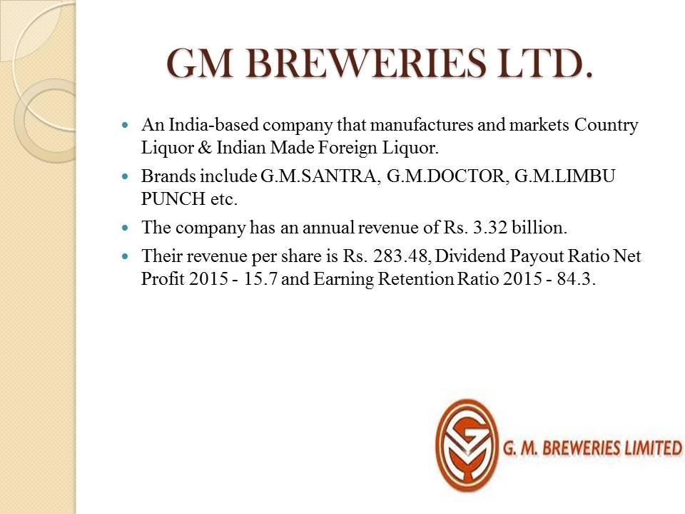 GM Breweries LTD.