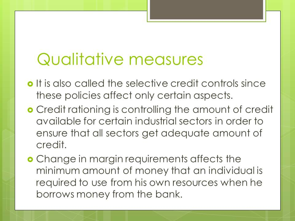 Qualitative measures of Monetary policy