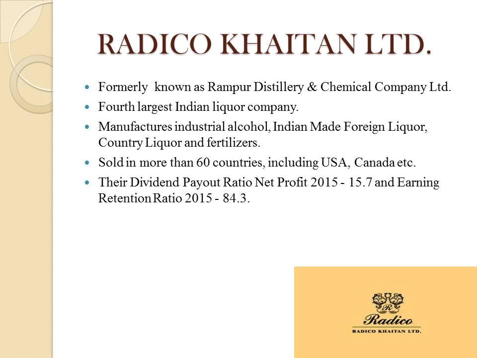 Radico Khaitan LTD.
