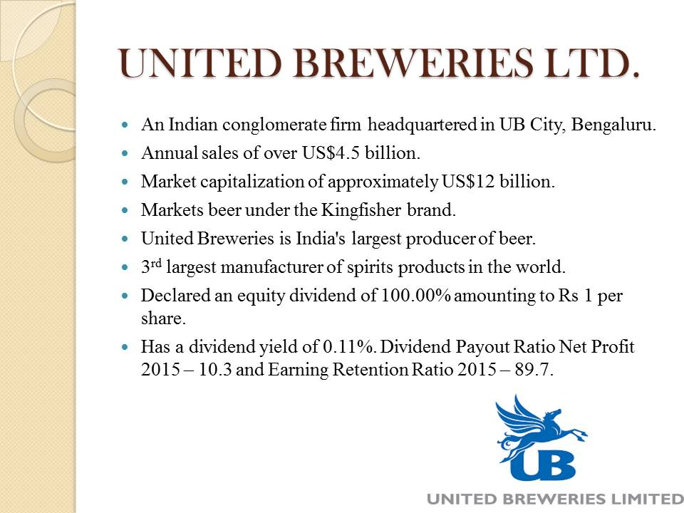 United Breweries Ltd. Project