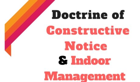 Constructive notice & Indoor Management