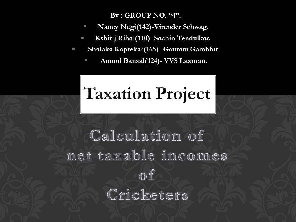 Income tax Project