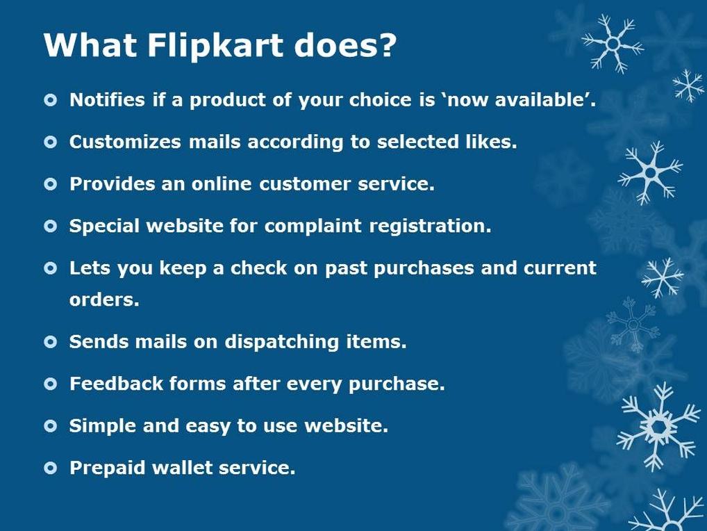 Flipkart tasks