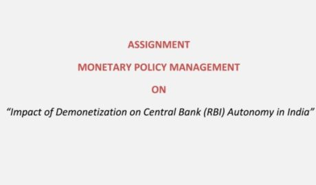 Demonetization Impact on Central Bank Autonomy