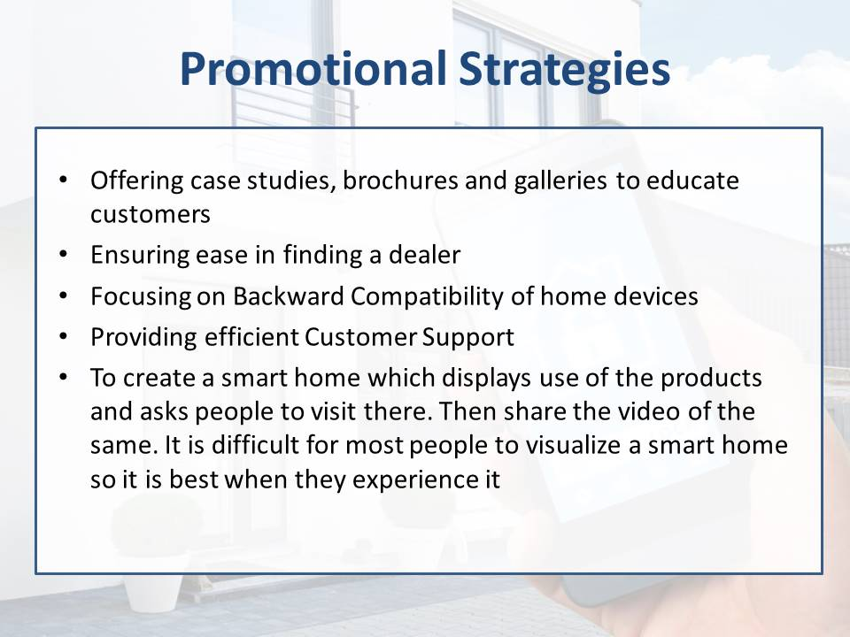 Home Automation Promotional Strategies