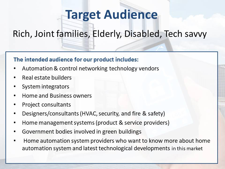 Home Automation Target Audience