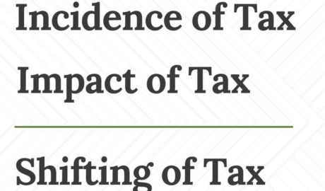 Incidence Impact and Shifting of Tax