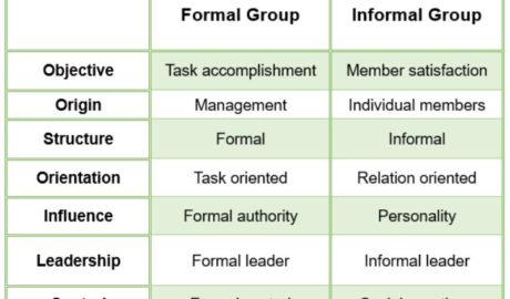 Group Behaviour - Formal & Informal groups