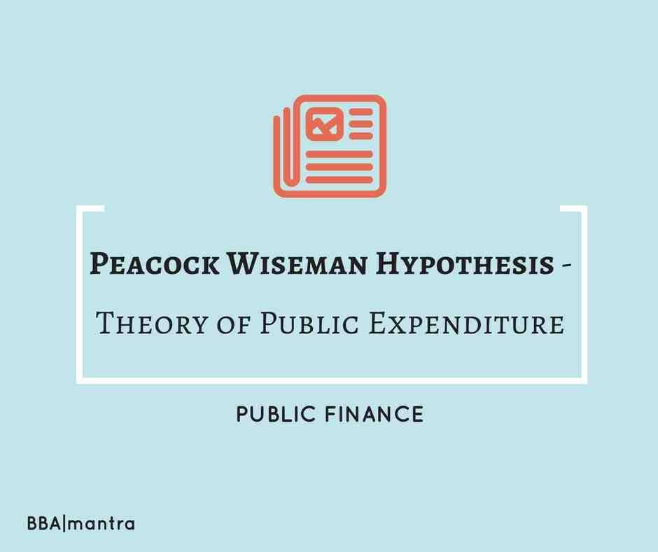 Peacock Wiseman Hypothesis - Public Expenditure - BBA|mantra