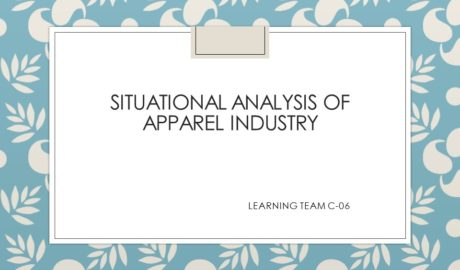 Situational analysis of apparel industry
