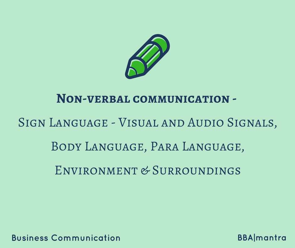 Non Verbal Communication Sign Body Para Language Bbamantra